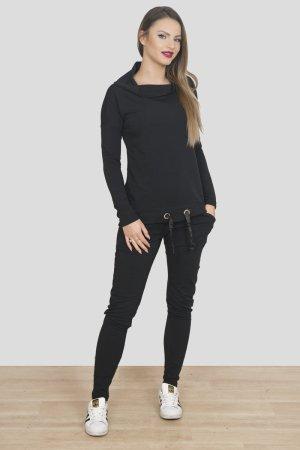 Neuer luxus Damen Jogginganzug Jogger 2-Teiler in schwarz passt bei 36-40
