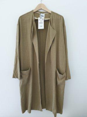 Zara Oversized Coat ocher