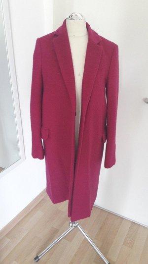 Mango Abrigo de lana magenta-rojo frambuesa tejido mezclado