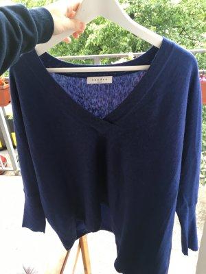 Neuer marineblauer Wollpullover von Sandro