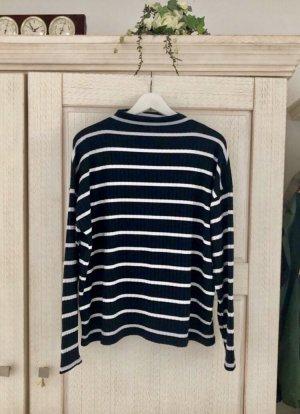 Conleys Turtleneck Sweater dark blue-white