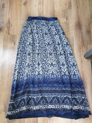 Mango Suit Zijden rok lichtbruin-blauw Zijde