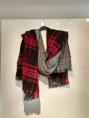 Woolen Scarf black-bordeaux