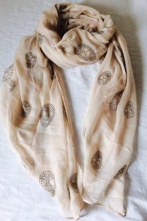 Neuer Nieten-Baumwoll-Schal mit Totenkopf-Motiven