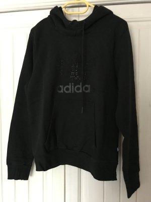 Adidas Sudadera de forro negro Algodón