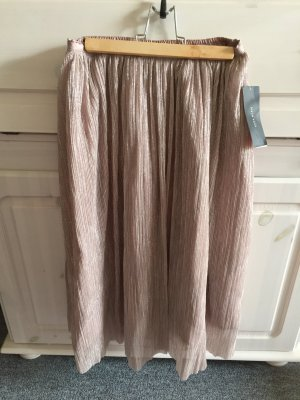 Zara Woman Pleated Skirt rose-gold-coloured