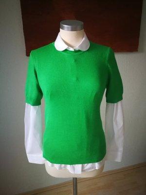 Zara Sweater met korte mouwen groen