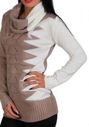 b.p.c. Bonprix Collection Knitted Sweater beige-brown