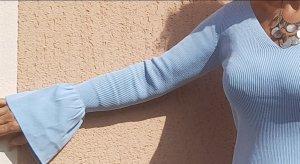 Neuer Pullover mit Trompetenärmeln von Sandro Paris in Größe 38