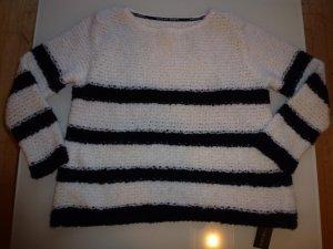 Neuer Pullover schwarz-ecru gestreift von MarcCain Größe 38