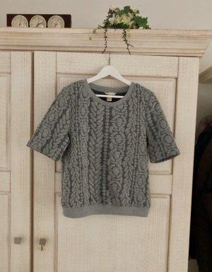 H&M Jersey de manga corta gris claro-gris oscuro