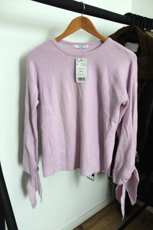 Mango Kraagloze sweater lichtroze