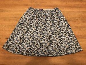 Flared Skirt white-dark blue