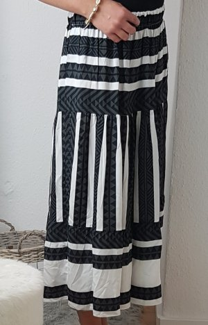 Jupe longue blanc-noir