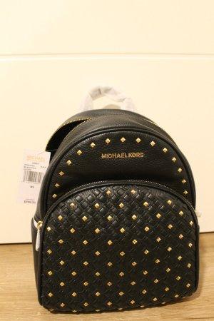 Michael Kors Sac à dos pour ordinateur portable noir-doré cuir