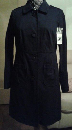 Neuer!!!! schicker schwarzer Mantel in Baumwolle für Frühjahr und Herbst,VP: 59,00 Euro !!!