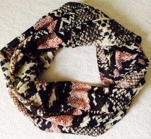 Neuer, sehr weicher Loop-Schal in Snake-Reptil-Look
