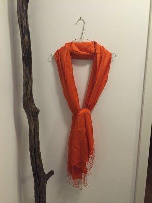 Silk Scarf orange-neon orange silk