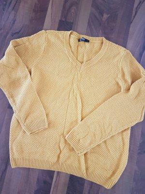 neuer senfgelber Pullover Grobstrick Grösse L