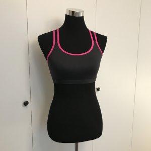 Neuer Sport BH schwarz pink