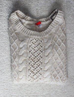 Neuer Strick Pullover in beige