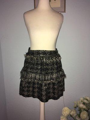 Zara Woman Gonna tweed nero-bianco