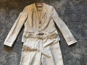 Gerry Weber Trouser Suit silver-colored-light grey linen