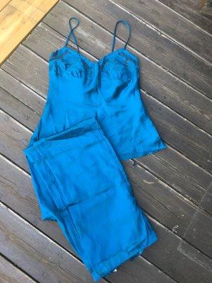 H&M Pyjama bleu pétrole polyester