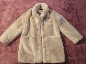 Cappotto in eco pelliccia rosa antico-rosa pallido Pelliccia ecologica