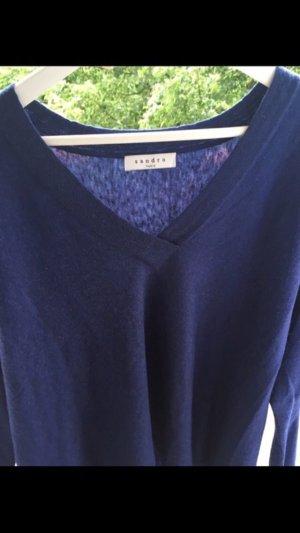 Neuer weicher blauer Wollpullover von Sandro