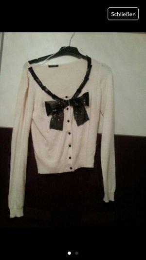 Neuer weißer cardigan mit Schleife schwarz