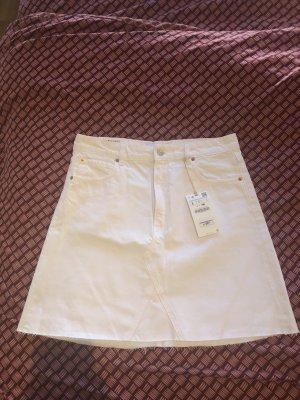Neuer weißer Jeans Rock von Zara Woman