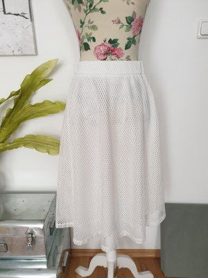 Daphnea High Waist Skirt white