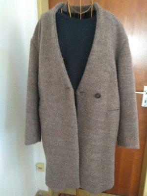 Zara Basic Wollen jas lichtbruin-taupe Gemengd weefsel