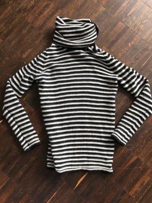 neuer wunderschöner Rollkragen-Pullover von Stefanel, gestreift, mit Kaschmir