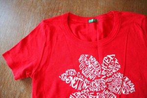 Neues Basic Shirt von BENETTON, kirschrot, Gr. S