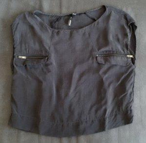 neues bauchfreies Mango T-Shirt aus glänzendem Stoff