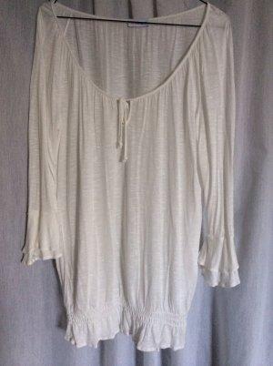 Camicia a tunica bianco sporco