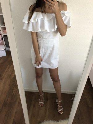 Neues Baumwollkleid One Shoulder weiß elegant