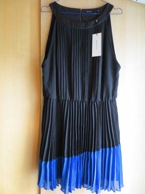 NEUES blau-schwarzes KAREN MILLEN Plissee-Abendkleid mit Etikett