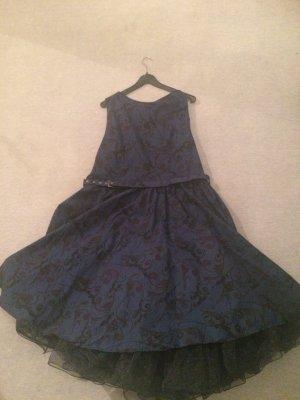 neues blaues 50er Jahre Kleid / Rockabilly Kleid / Kleid mit Petticoat - Gr. 22 / Gr. 48/50