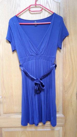 NEUES blaues Kleid von Only mit Schleife