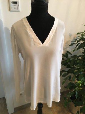 Neues Blusen-Shirt Bluse von Eterna in weiß Seide