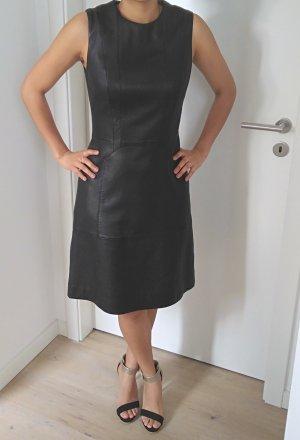 Hugo Boss Leren jurk zwart