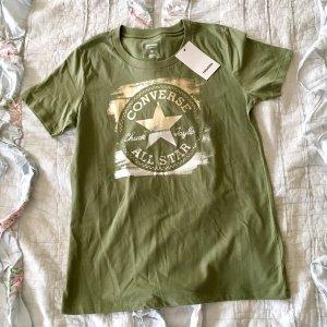 Neues Converse T-Shirt Gr M oliv grün