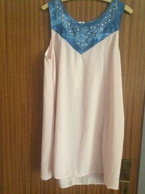 Neues Coral/Blau Kleid Gr. M