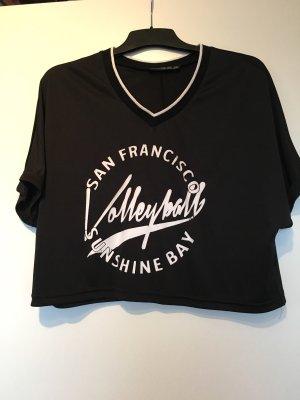 Atmosphere Cropped shirt zwart-wit