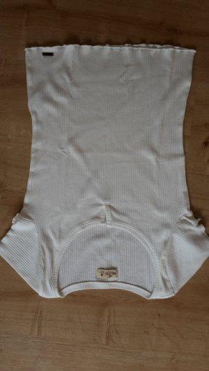 Hollister Chemise côtelée blanc coton