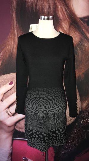 Desigual Knitted Dress black-dark grey