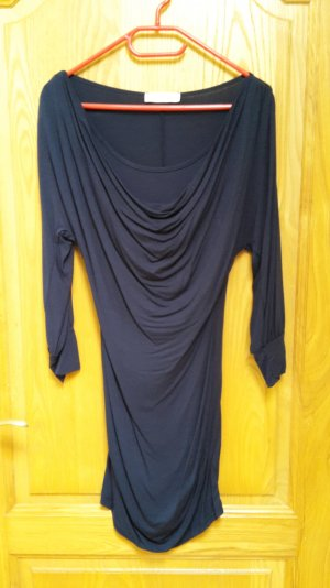 NEUES dunkelblaues Kleid von Rinascimento mit Wasserfallausschnitt